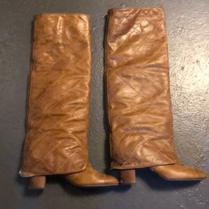 Chanel boots preowned size 39 1/2